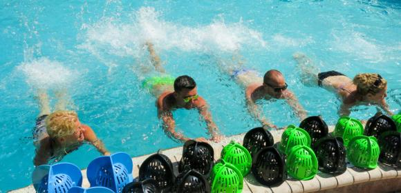 Figure 11.1 Circuit training in the water, as on land, is only limited by your creativity with equipment and space.