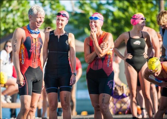 Joining a masters swim group can help you meet new training and racing partners.