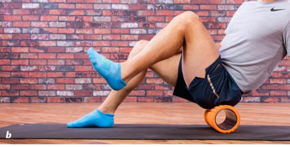 Figure 7.2 Posterior Hip I: Roll up and down , and flex the hip by raising the leg .