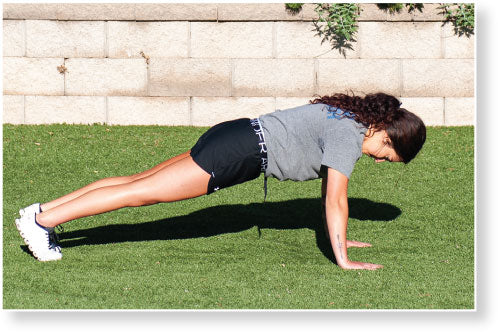 Figure 4.2 Hand Release Push-Up–Arm Extension: up position.