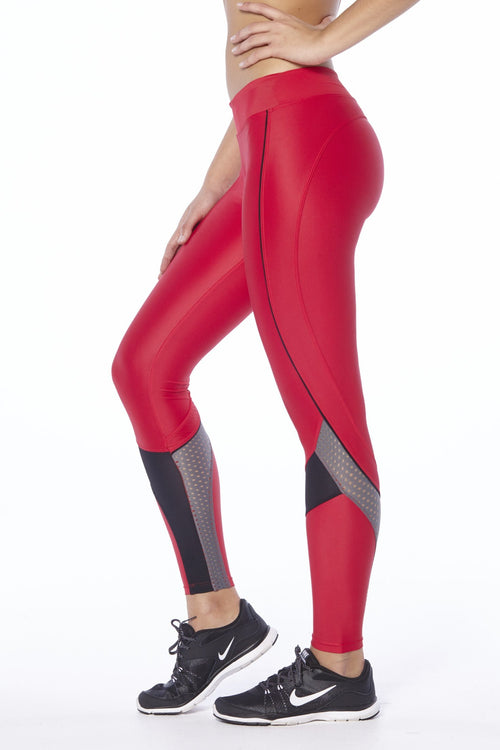Rapid Racer Legging - Red / Grey / Black