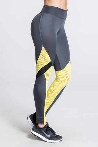 Lean Mean Legging - Golden Leopard / Black