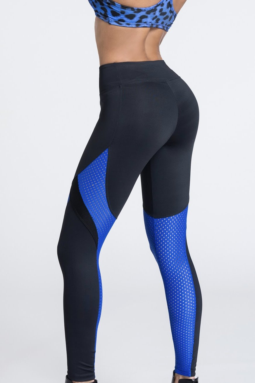 ca532a85697e43 Blue And Black Leggings | Black Mesh Leggings | Black Workout Leggings -  BecoFit