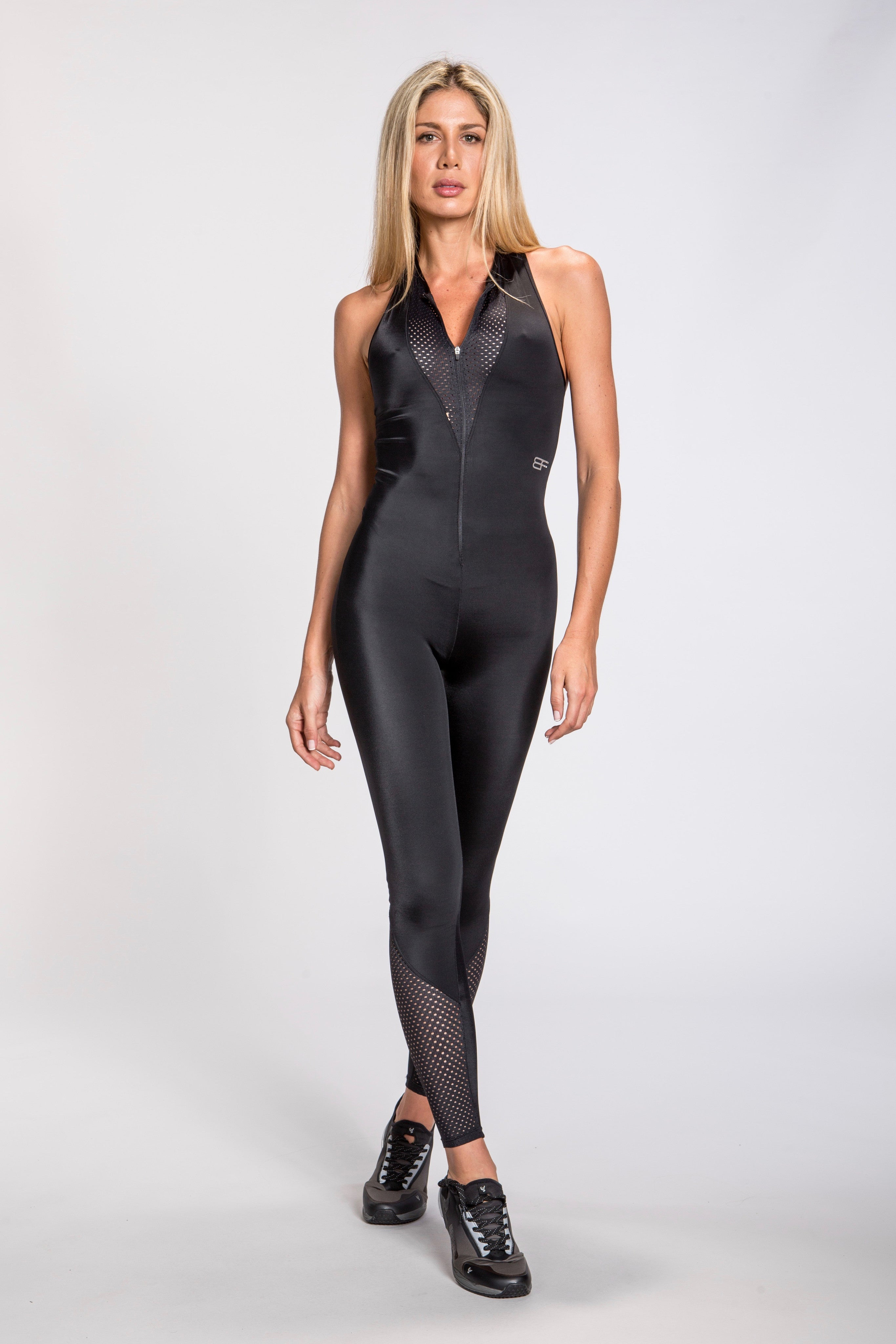 Aero Mesh Jumpsuit - Black