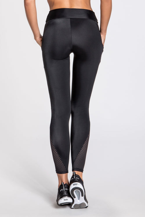 Elektra Leggings - Black/Silver