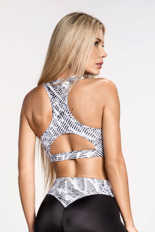 Vortex Sports Bra - Gray/White