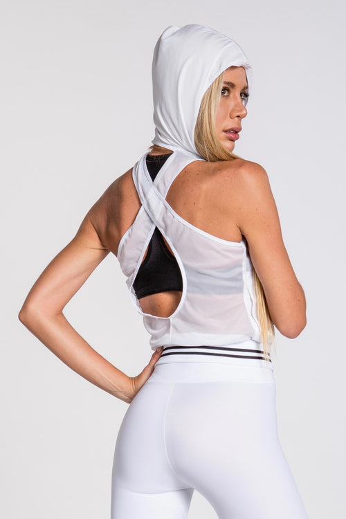Stellar Hooded Vest - White