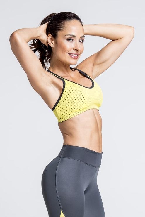 Motivation Mesh Sports Bra - Yellow