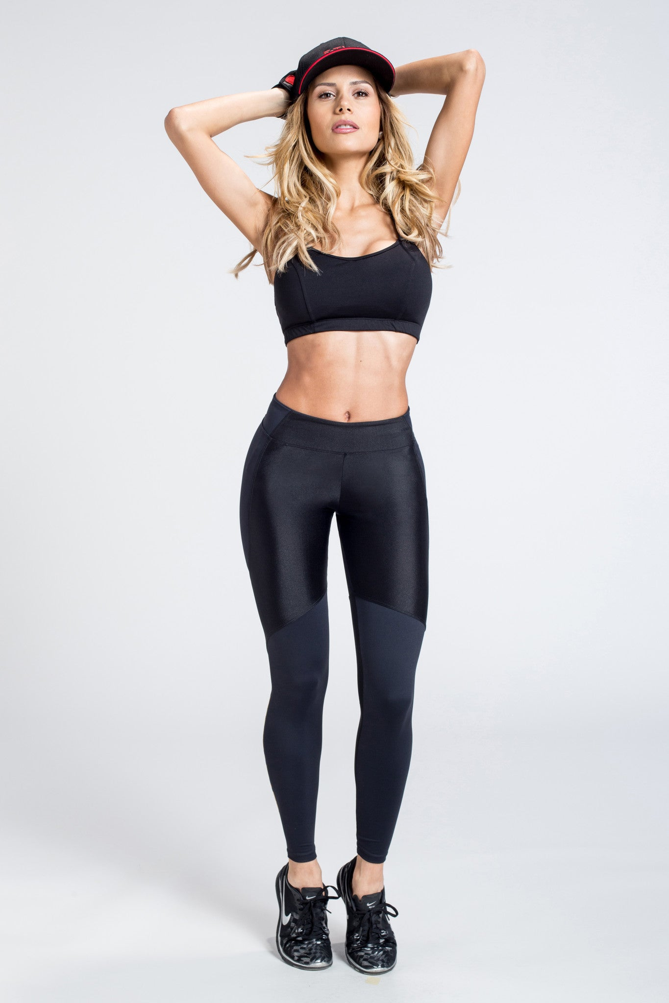 Bad Boned Legging - Black / Leopard Stripe