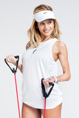 Driven Draped Back Top - White