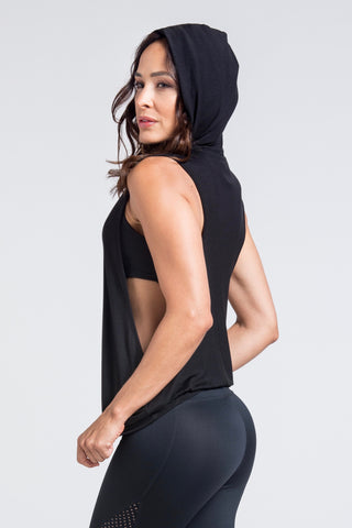 Motivation Mesh Sports Bra -  Black