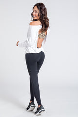Burn It Cut Out Back Top - White