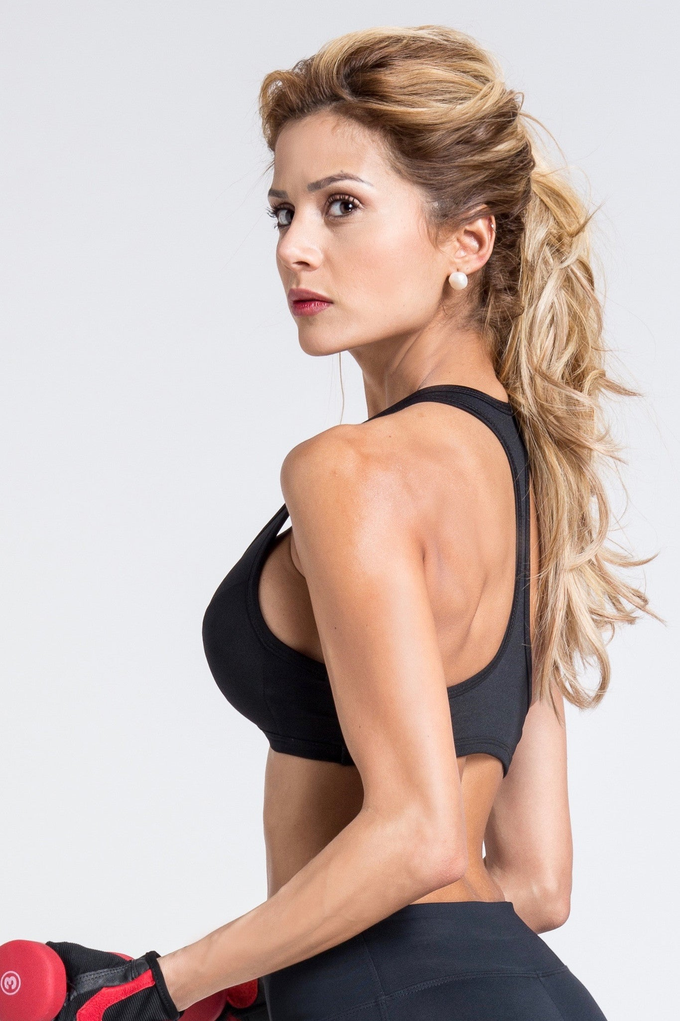 Lean Low Cut Bra - Black