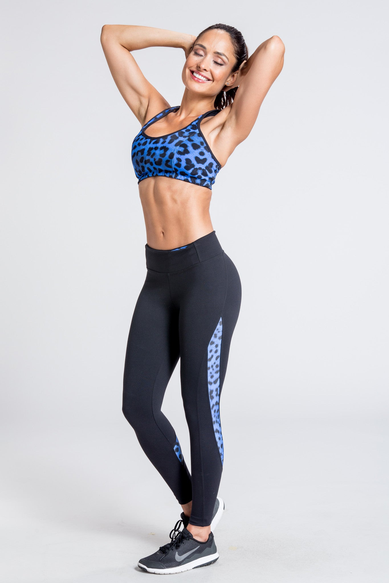 Posh Pounce Legging - Royal Leopard / Black