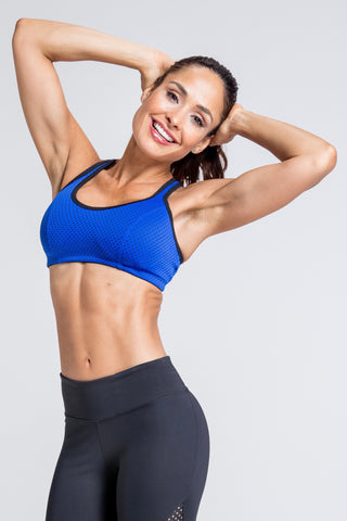 Motivation Sports Bra - Royal Leopard