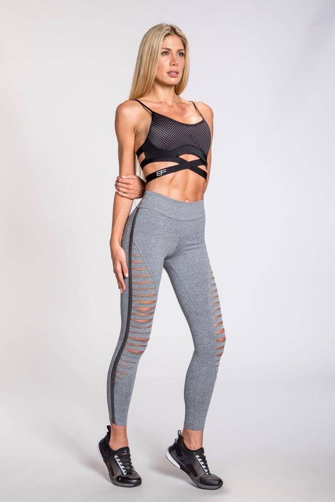 Nikita Combat Leggings - Heather Gray/ Silver