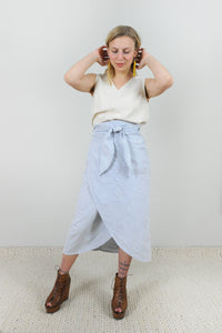 Cloudscape Wrap Skirt