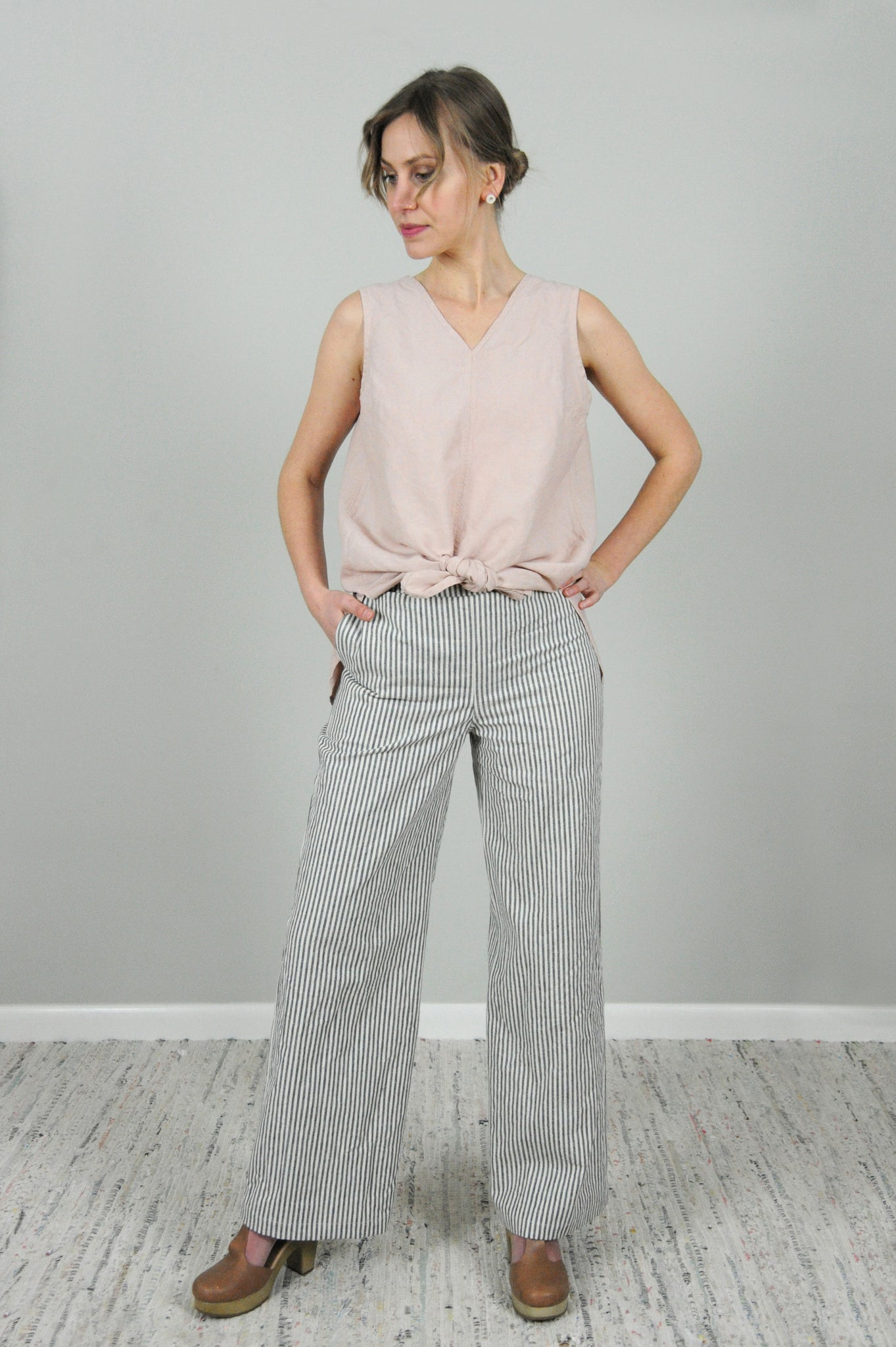 Strato Trouser in stripe