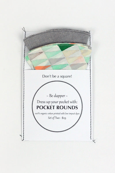 Pocket Rounds (set of 2) - triangle/stripe