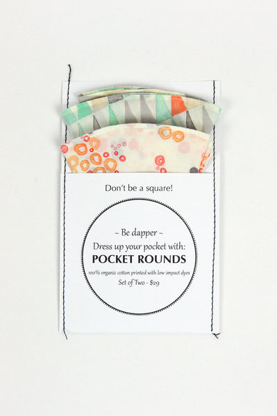 Pocket Rounds (set of 2) - circle/triangle