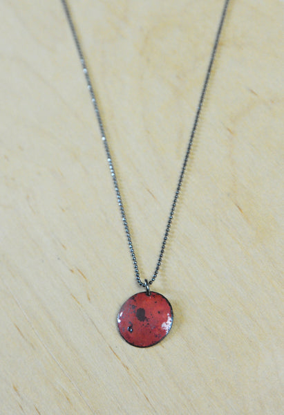 Round Sunset Enamel Necklace