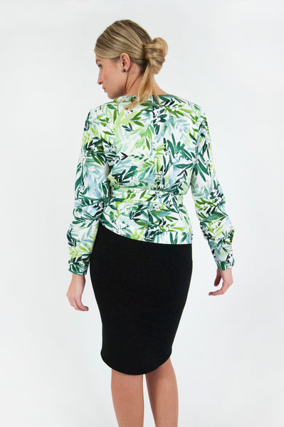 Foliage Wrap Blouse
