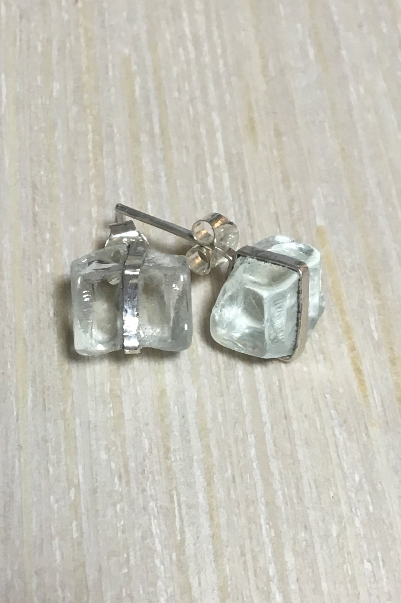 Broken Glass Post Earrings
