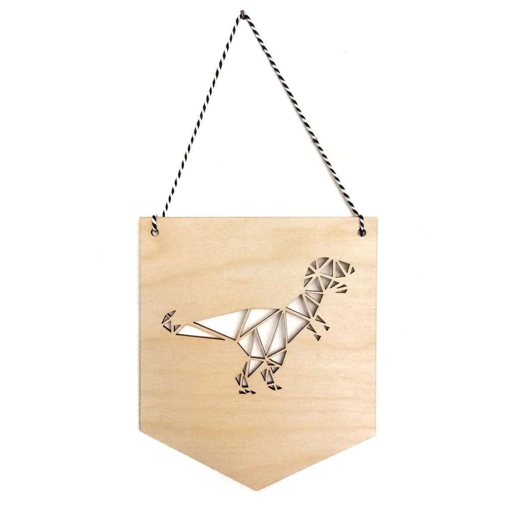 Geometric T-Rex Pennant Flag Banner £10 Five Little Diamonds