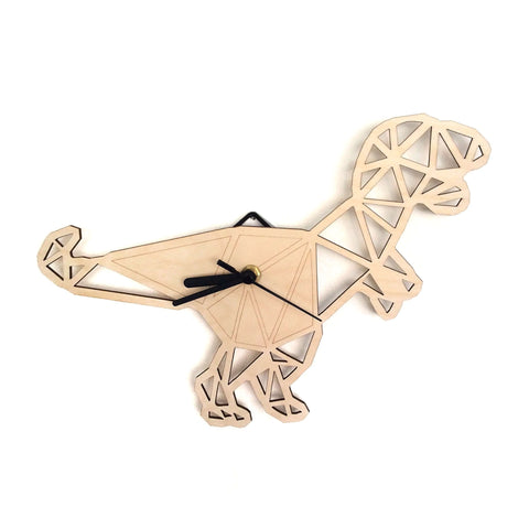 Geometric T-Rex Clock £18 Five Little Diamonds