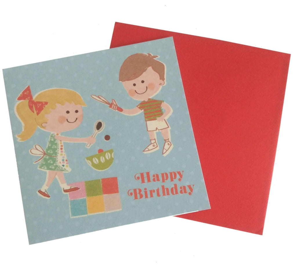 Birthday Card- Home Baking £0.5 Five Little Diamonds