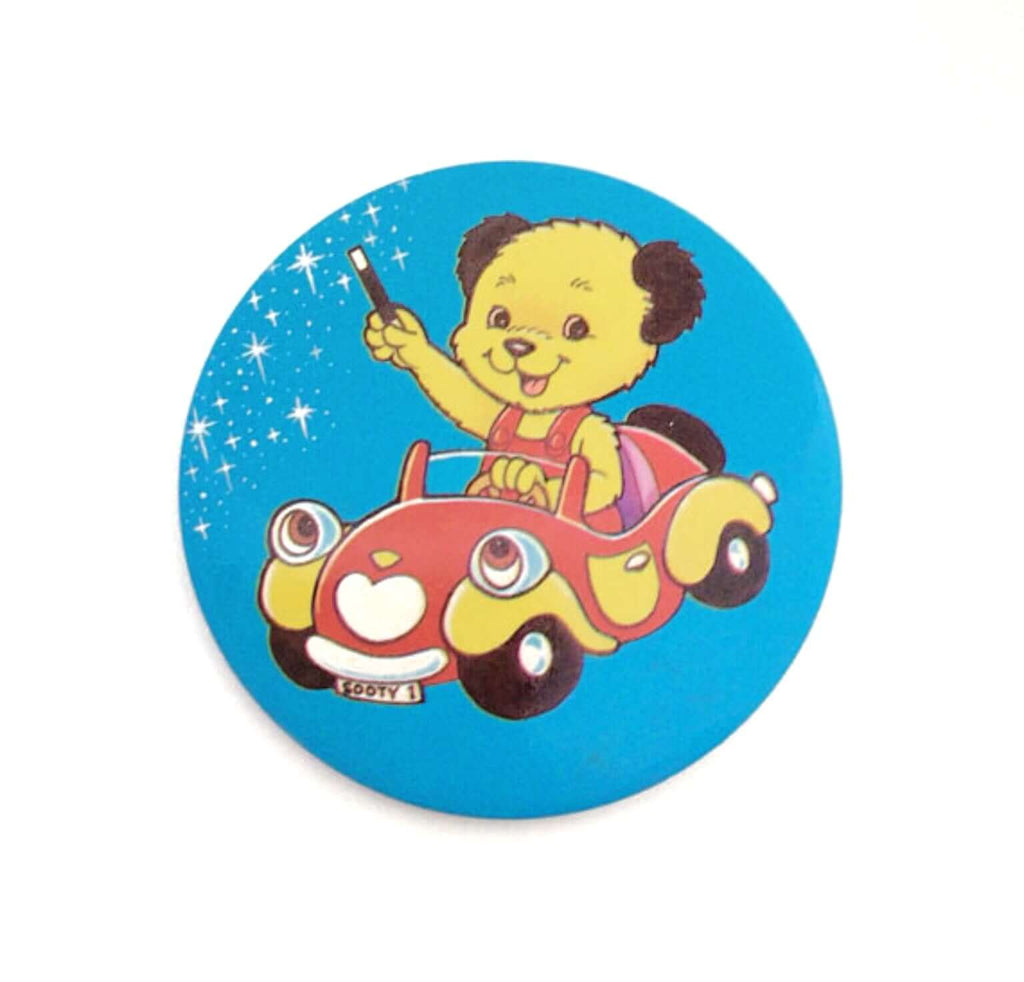 Retro 1980's Large Sooty Badge - Five Little Diamonds