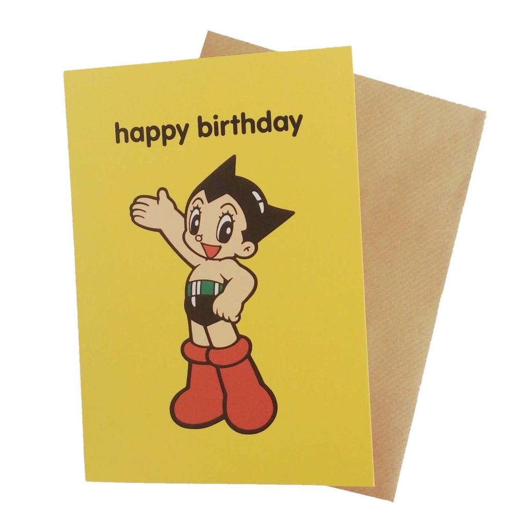 Astro Boy Happy Birthday Card £2.5 Five Little Diamonds