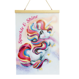 A3 EXCLUSIVE Unicorn Poster- Sparkle & Shine - Five Little Diamonds