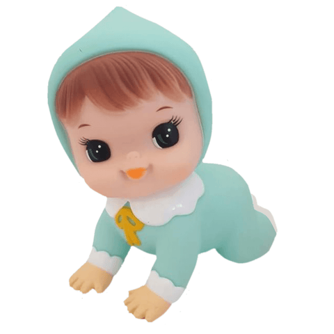 Hihi Retro Crawling Doll in Mint