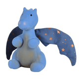 Natural Rubber Midnight Dragon with Crinkle Wings Teething Toy £20 Five Little Diamonds