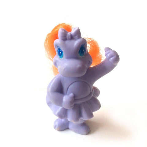 Darlin' Dinos Vintage Lil Dino- Purple Ballerina with Orange Hair - Five Little Diamonds
