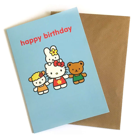 Hello Kitty Happy Birthday Card £2.5 Five Little Diamonds