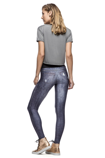 Almost Ripped Denim Legging