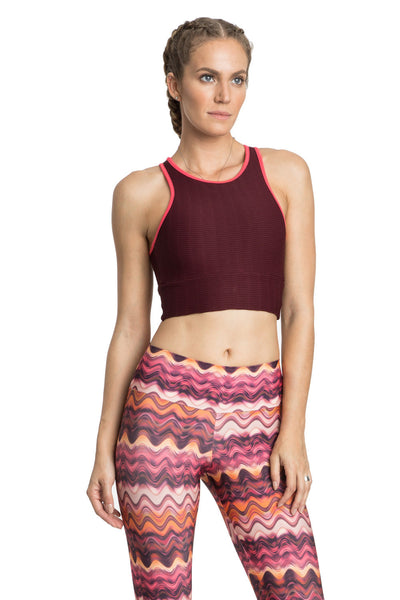 Halter Jacquard Gym Top