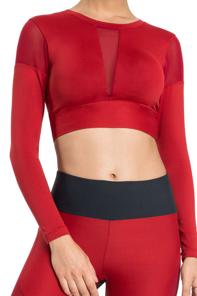 Bio Dance Cropped Long Sleeve Top
