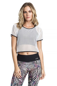 Mesh Team Fit Cropped Shirt