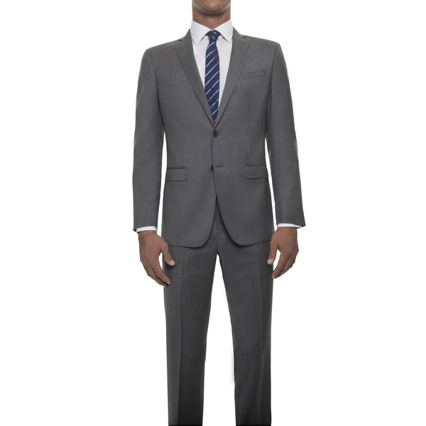 121018 - Light Heather Grey Suit in Super 120's Worsted Wool