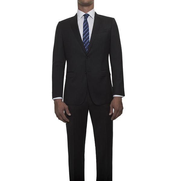 121019 - Charcoal Grey Suit in Super 120's Worsted Wool