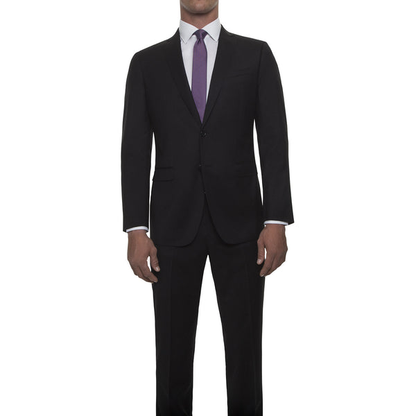 121020 - Black Suit in Super 120's Worsted Wool