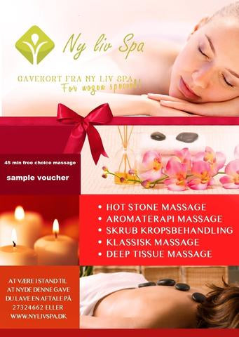 NyLivSpa Massage Vouchers 45 min