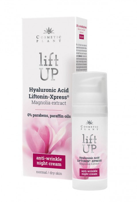 Lift Up – Anti-wrinkle night cream with Hyaluronic Acid, LIFTONIN®-XPRESS and Magnolia Extract (50 ml)