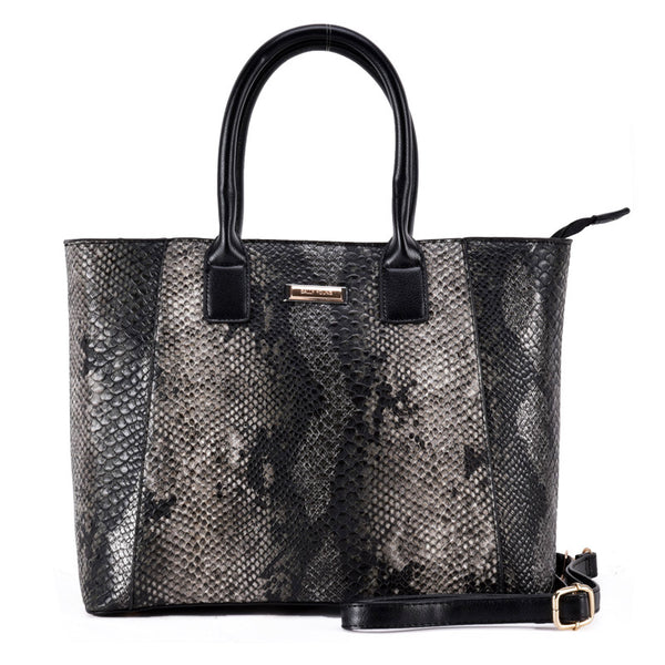 Ladies Bag Sally Young black Pithon leather