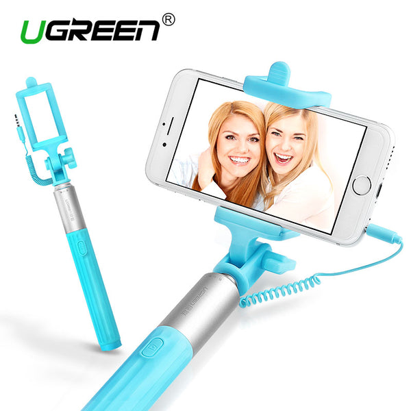 Ugreen Universal Selfie Stick For iPhone Tripod Monopod Wired Mini Selfie Stick For Android Samsung Huawei Xiaomi LG Palo Selfie