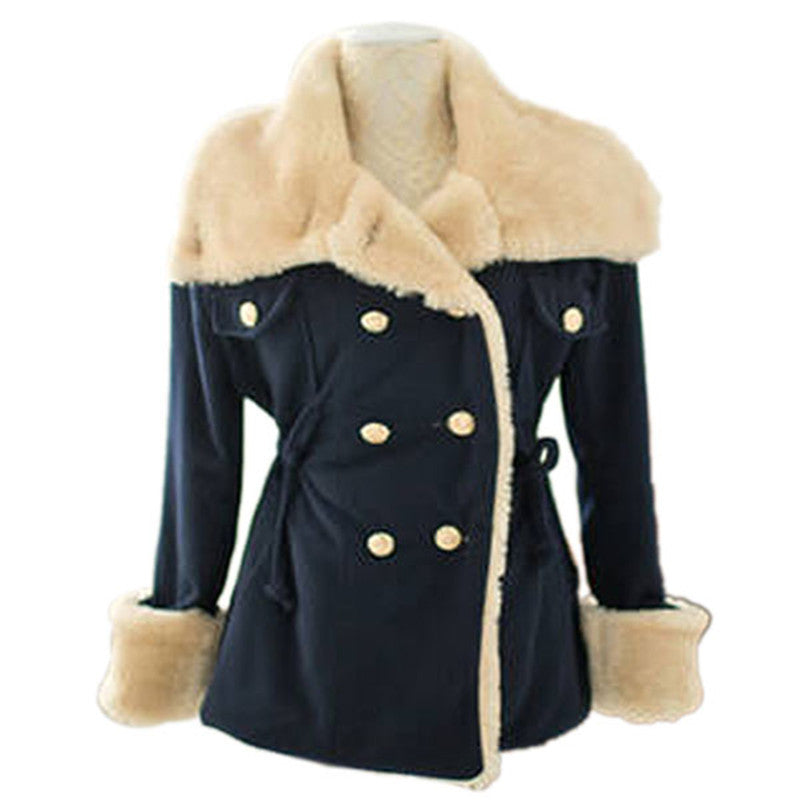 JECKSION New 1PC Winter Fashion Warm Double-Breasted Wool Blend Jacket Women casacos femininos Coat overcoat #LN
