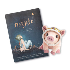 Maybe Book and Plush Pig